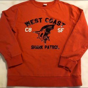 West Coast Shark Patrol Felt Lettering Orange CA